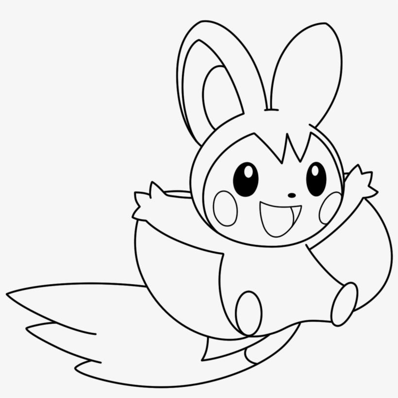 Coloriage Emolga Pokemon Pokemon Emolga Para Colorear