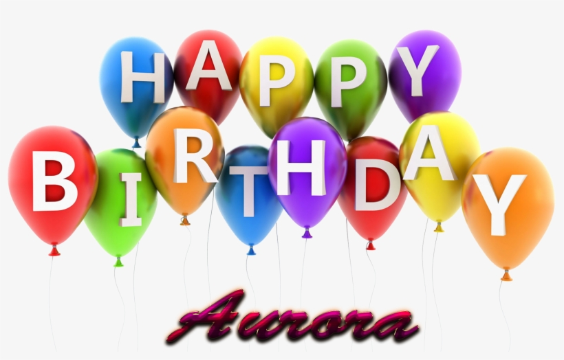 Aurora Happy Birthday Balloons Name Png