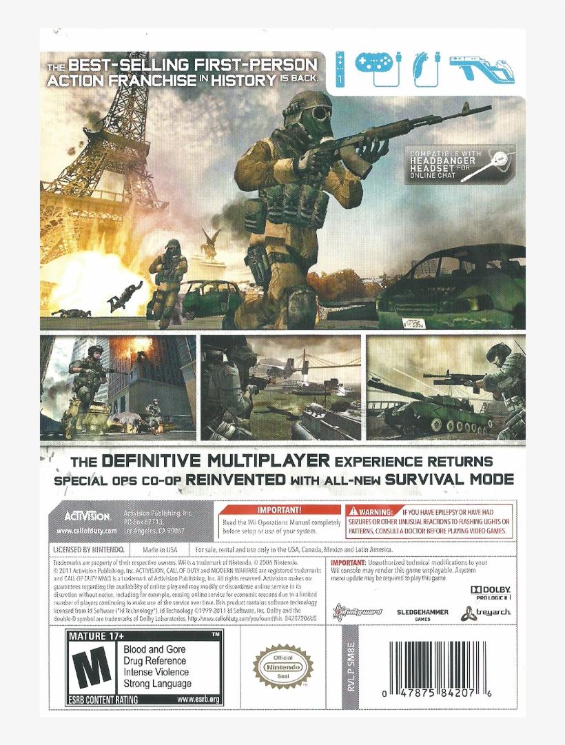 Call Of Duty Call Of Duty Modern Warfare 3 Wii 1000x1000 Png