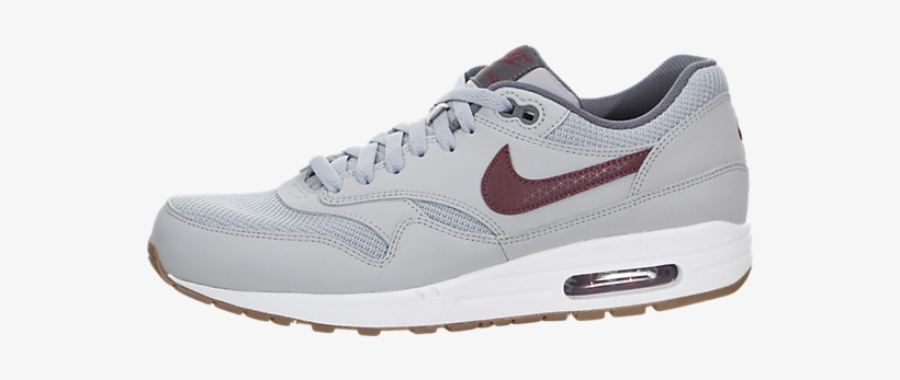 7811ac370 Genuine Leather Men s Nike Air Max 1 Essential Wolf - Nike Air Max 1  Essential Gris Y Roja
