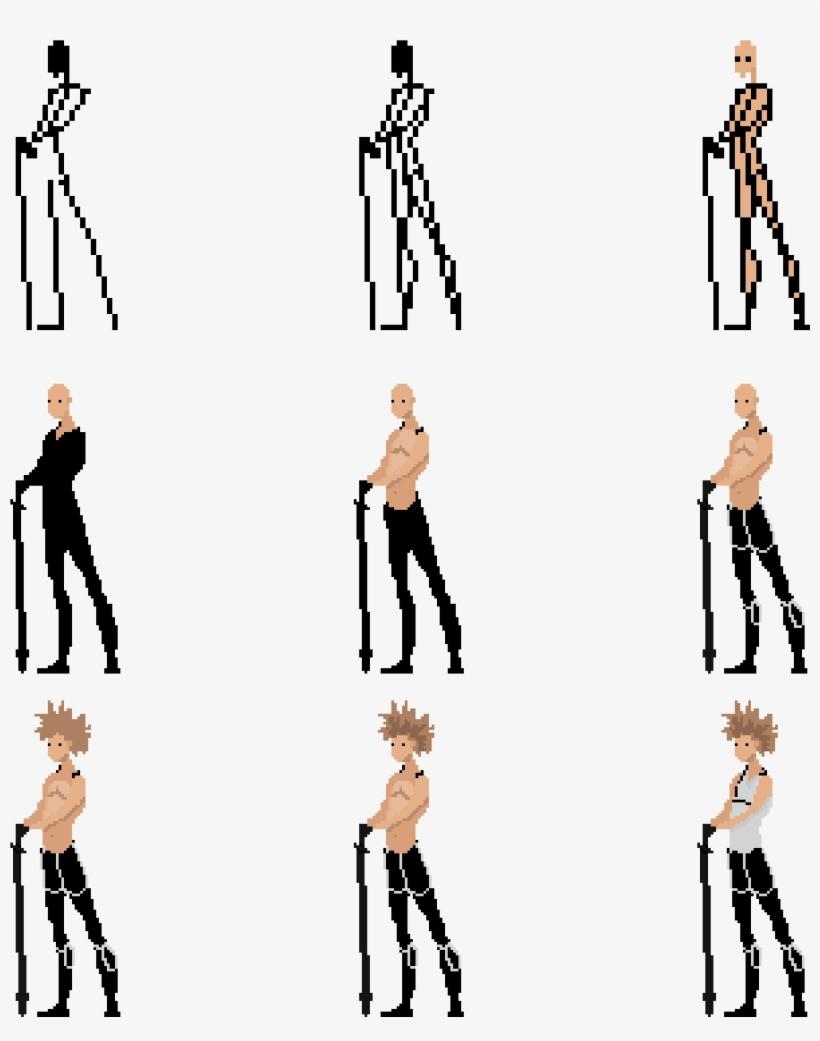 Pixel Art 64x64 Character - 3072x3072 PNG Download - PNGkit