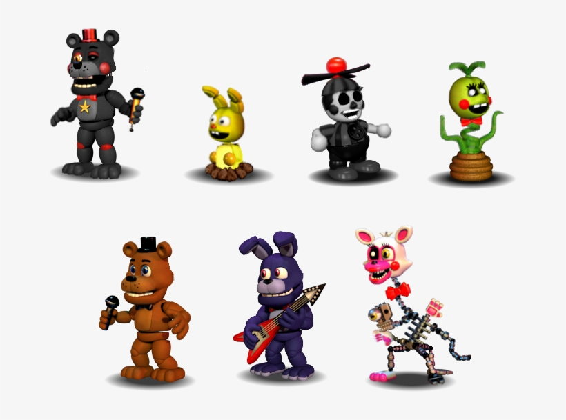 Five Nights At Freddy's - Fnaf World Fnaf 1 Characters