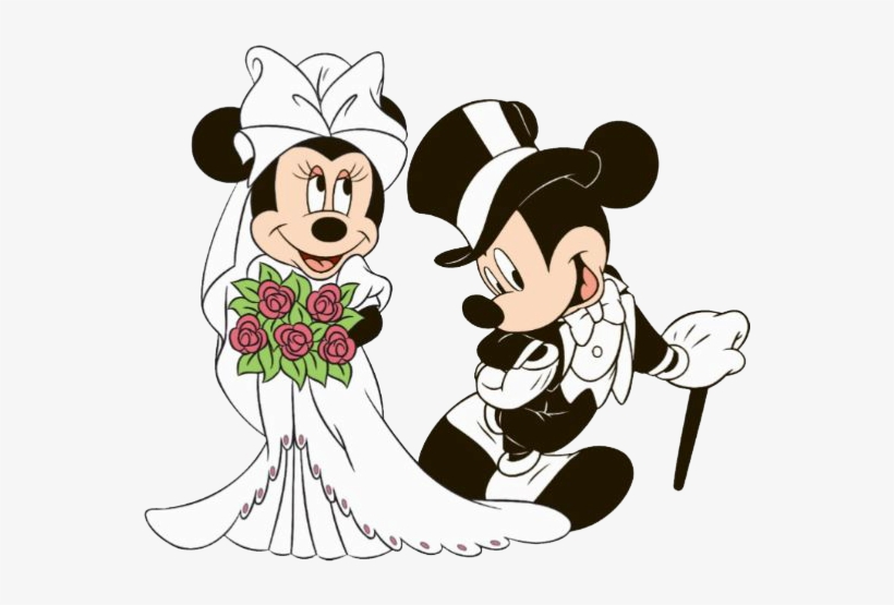 Bride Clipart Minnie Mickey And Minnie Mouse Wedding 574x492