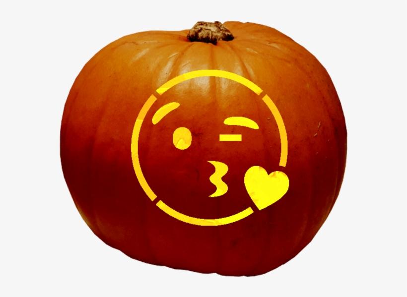 Wink N Kiss Emoji Jack O Lantern 690x690 Png Download Pngkit