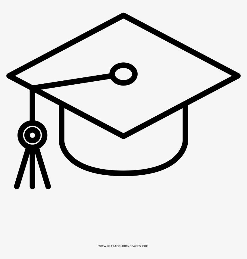 Birrete Página Para Colorear Graduate Hat And Diploma