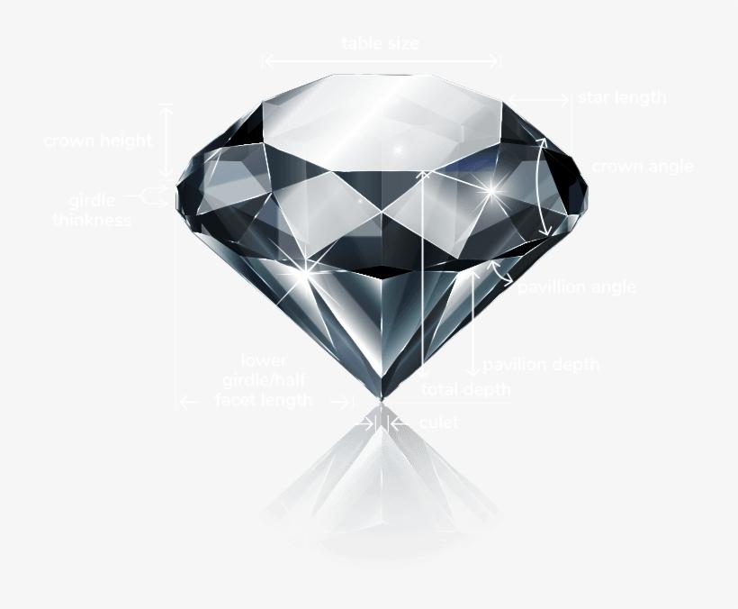 anatomy of a diamond diamond realistic draw 721x596 png download pngkit diamond realistic draw