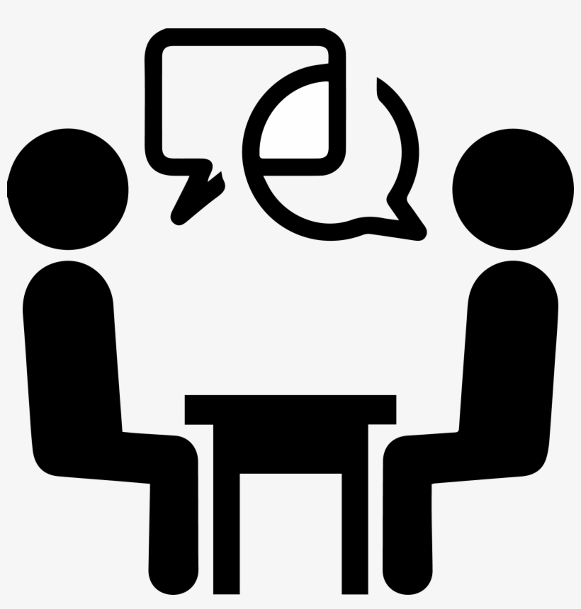Interview Vector Interviewer - Face To Face Meeting Icon - 2133x2133 PNG  Download - PNGkit
