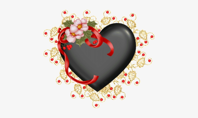 Heart Png With Red And White Flower Joyeux Anniversaire