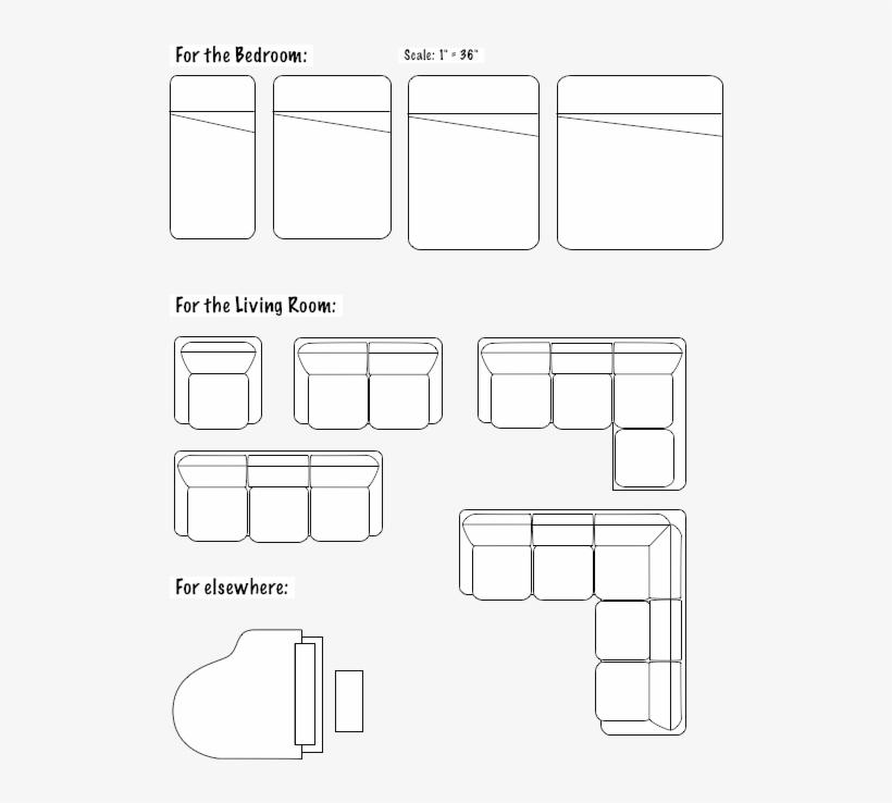 Floorplans Furniture Floor Plan Furniture Symbols 540x720 Png Download Pngkit