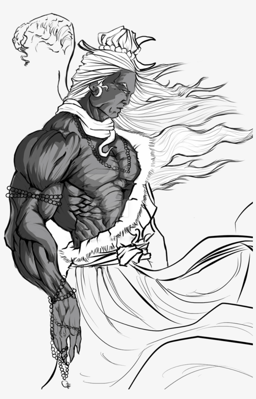 Lord shiva t shirts art by khushboo gupta angry shiva god drawing