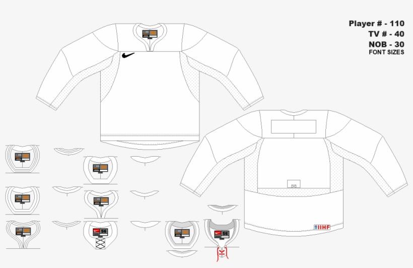 Nike Swift Template By Ryan Haslett Ice Hockey Jersey Template
