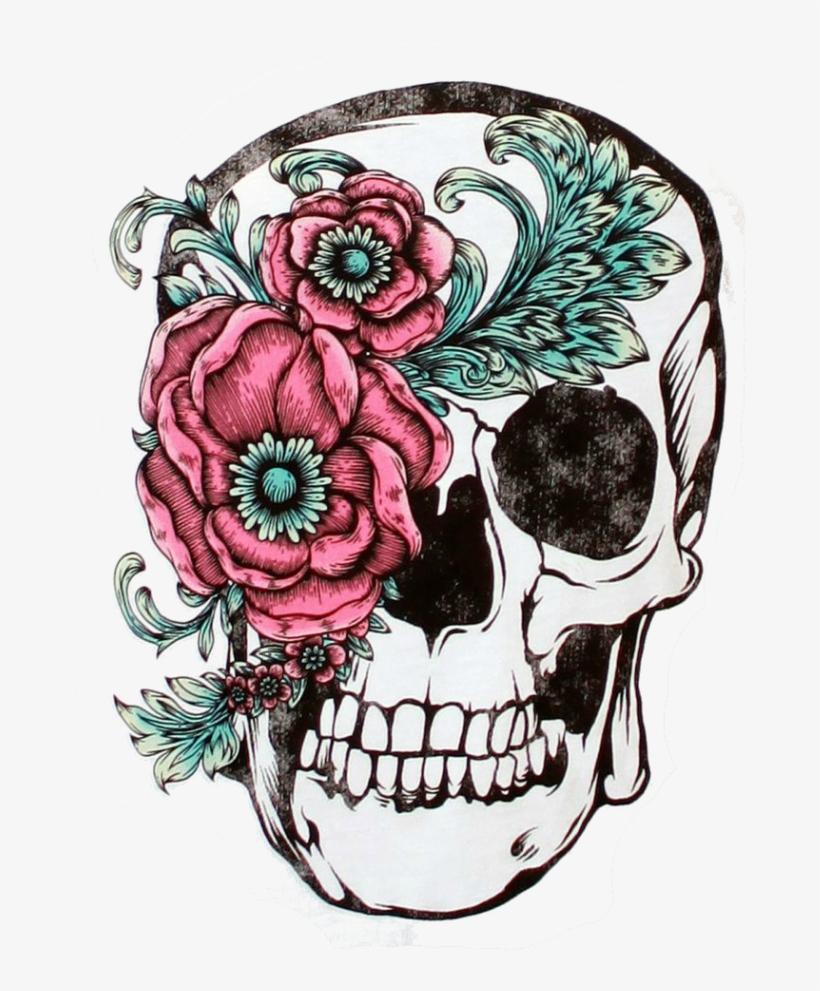 Calavera Tattoo Flash calavera flower sleeve skull tattoo free clipart hd - day of