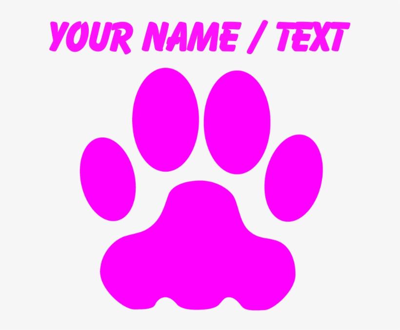Custom Pink Big Cat Paw Print Mousepad Circle 700x700 Png Download Pngkit Seeking for free paw print png images? pngkit