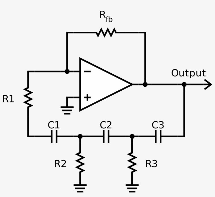 Sine Wave Oscillators - Phase Shift Oscillator Circuit Using Op Amp