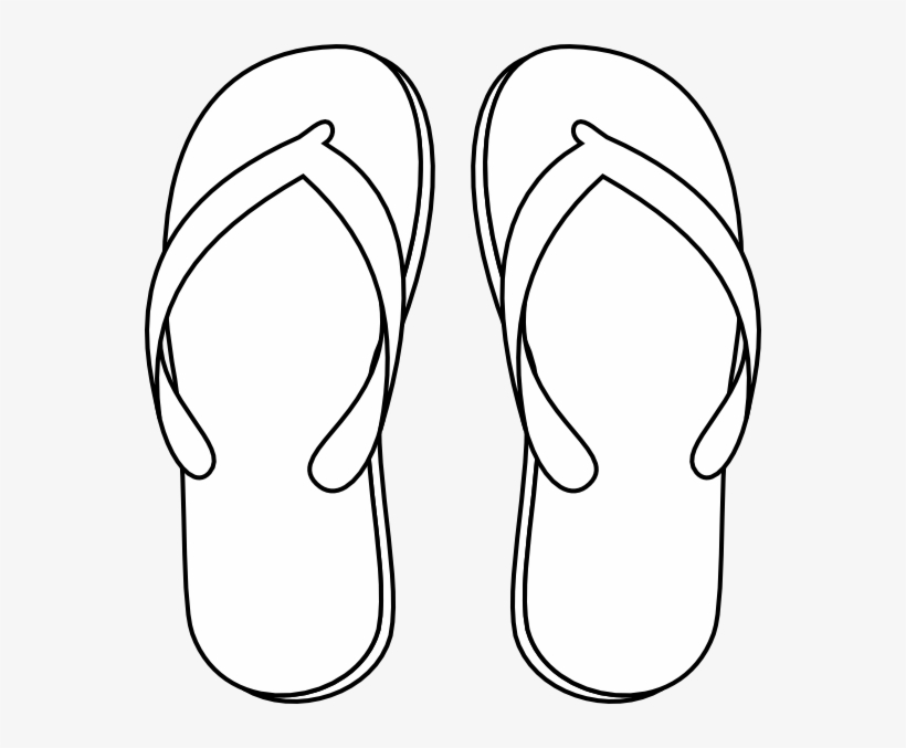 Flip Flop - Flip Flops Clipart Black