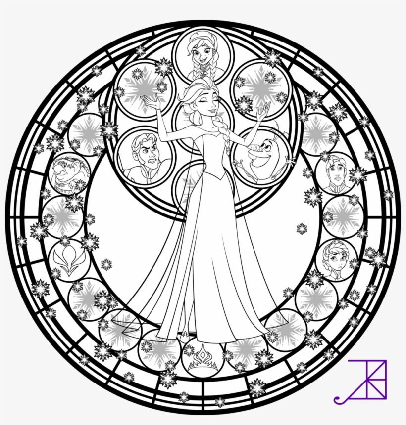 Stained Glass Coloring Pages Disney Princess Jasmine Disney