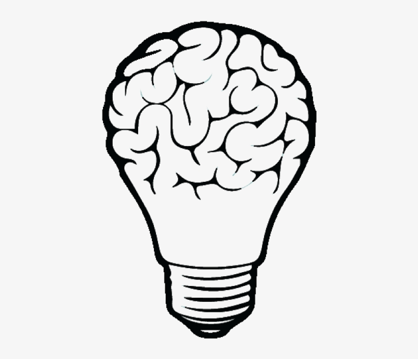 Incandescent Light Bulb Drawing Brain