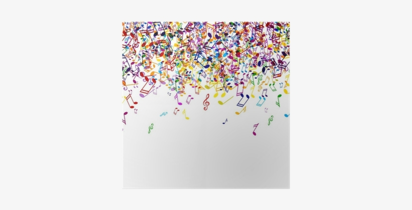 Vector Background With Colorful Music Notes Poster Color Music Notes Png 400x400 Png Download Pngkit