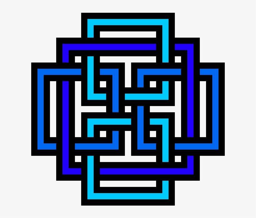 Trippy Af Pixel Art Minecraft Grid 660x660 Png Download