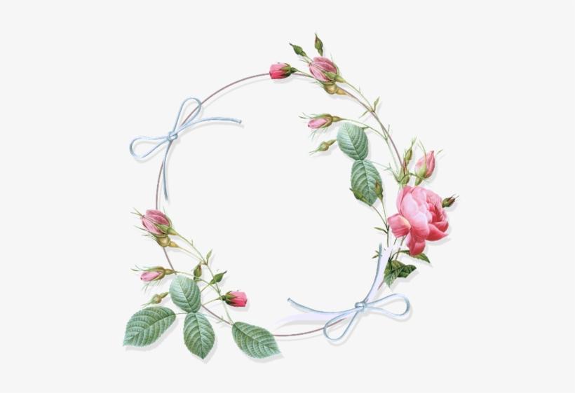 Tubes Victoriens Fleurs Vintage Flower Design Border Png