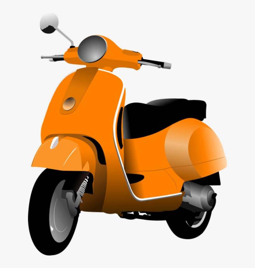 vector black and white download scooters and scooter clipart png 640x779 png download pngkit scooter clipart png 640x779 png