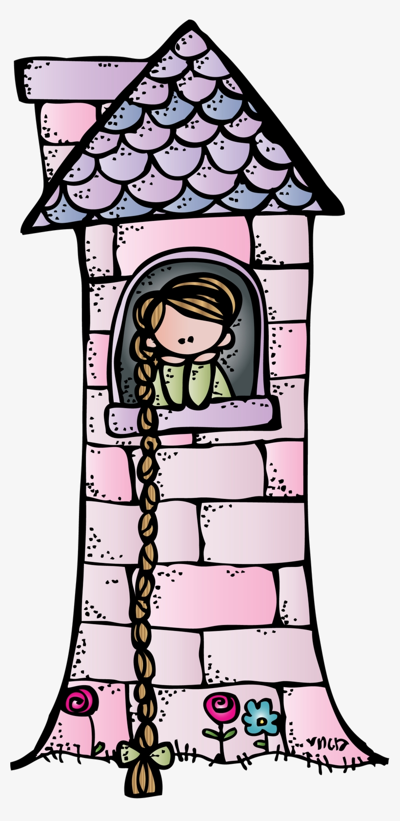 Fairytale Clipart Fairy Tail Rapunzel Tower Clipart 777x1600 Png Download Pngkit