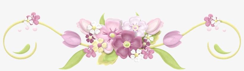 Arranjo De Flores Desenho Png Laco Com Flores Png 1600x392 Png
