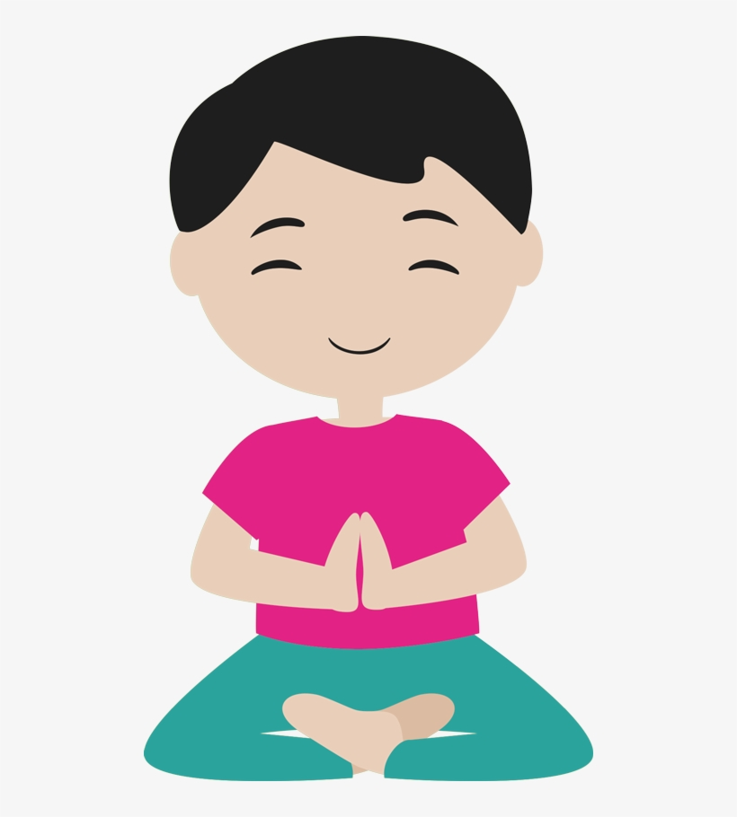 Meditation And Yoga For Kids Cartoon 500x830 Png Download Pngkit