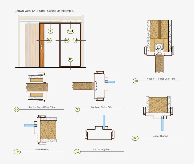 Timely Door Frames Pocket Door Trim Kit Single Drawing Floor Plan 720x648 Png Download Pngkit