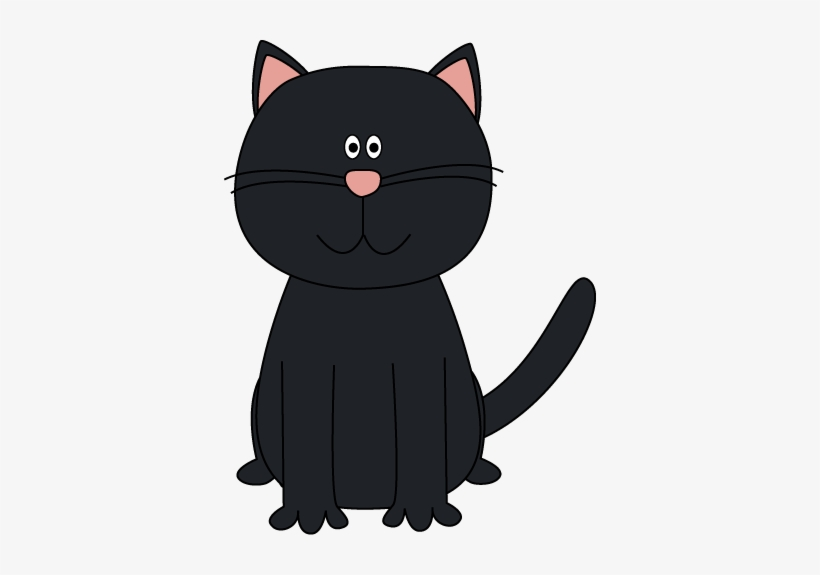 Grey Clipart Cat Face Pencil And In Color Grey Clipart Cartoon Black Cat Clip Art 372x495 Png Download Pngkit
