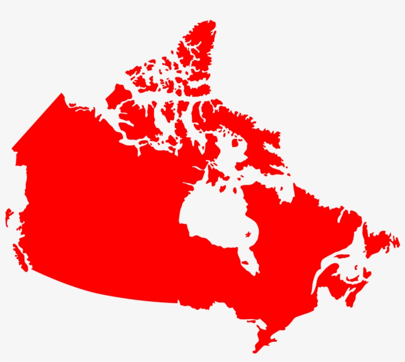 Canada Map Solid Canada Map Red Silhouette   Canada Map Solid Color   1007x850 PNG