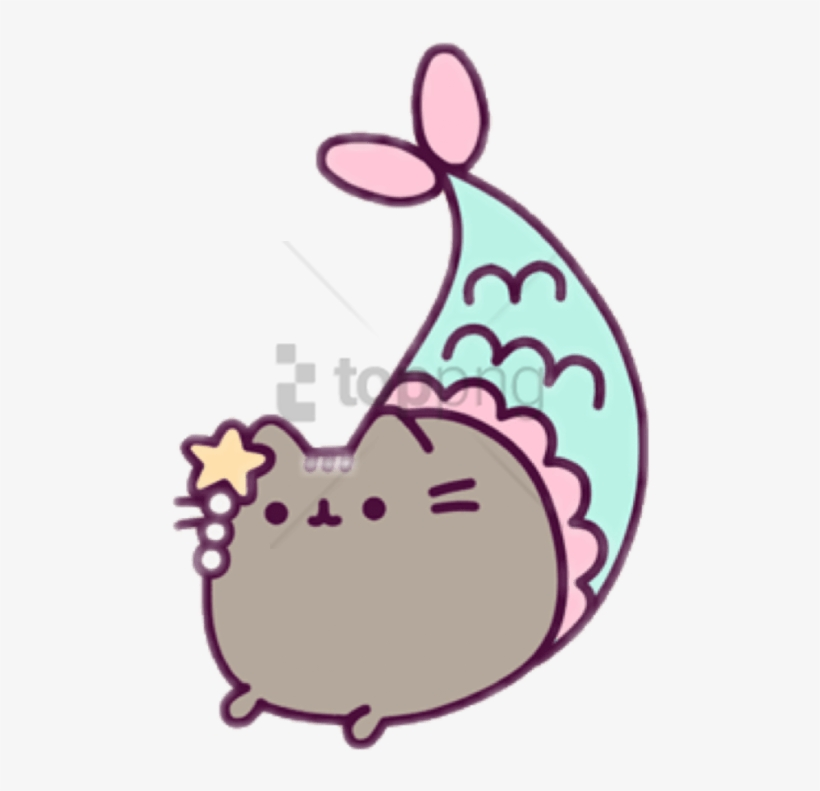 Free Png Mermaid Pusheen Coloring Pages Png Image With - Mermaid Pusheen  Coloring Pages - 480x711 PNG Download - PNGkit