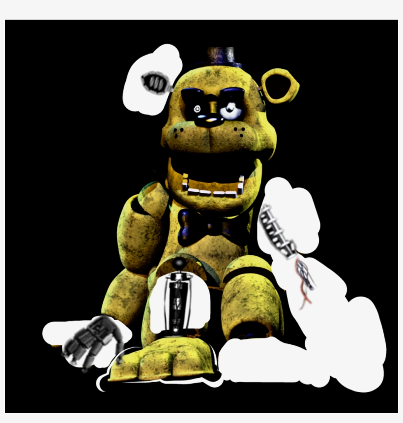 old Classic Golden Freddy - Cartoon - 1024x1024 PNG Download