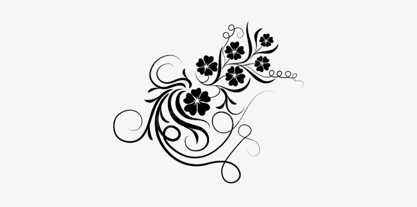 floral brushes png bingkai bunga hitam putih 380x328 png download pngkit floral brushes png bingkai bunga