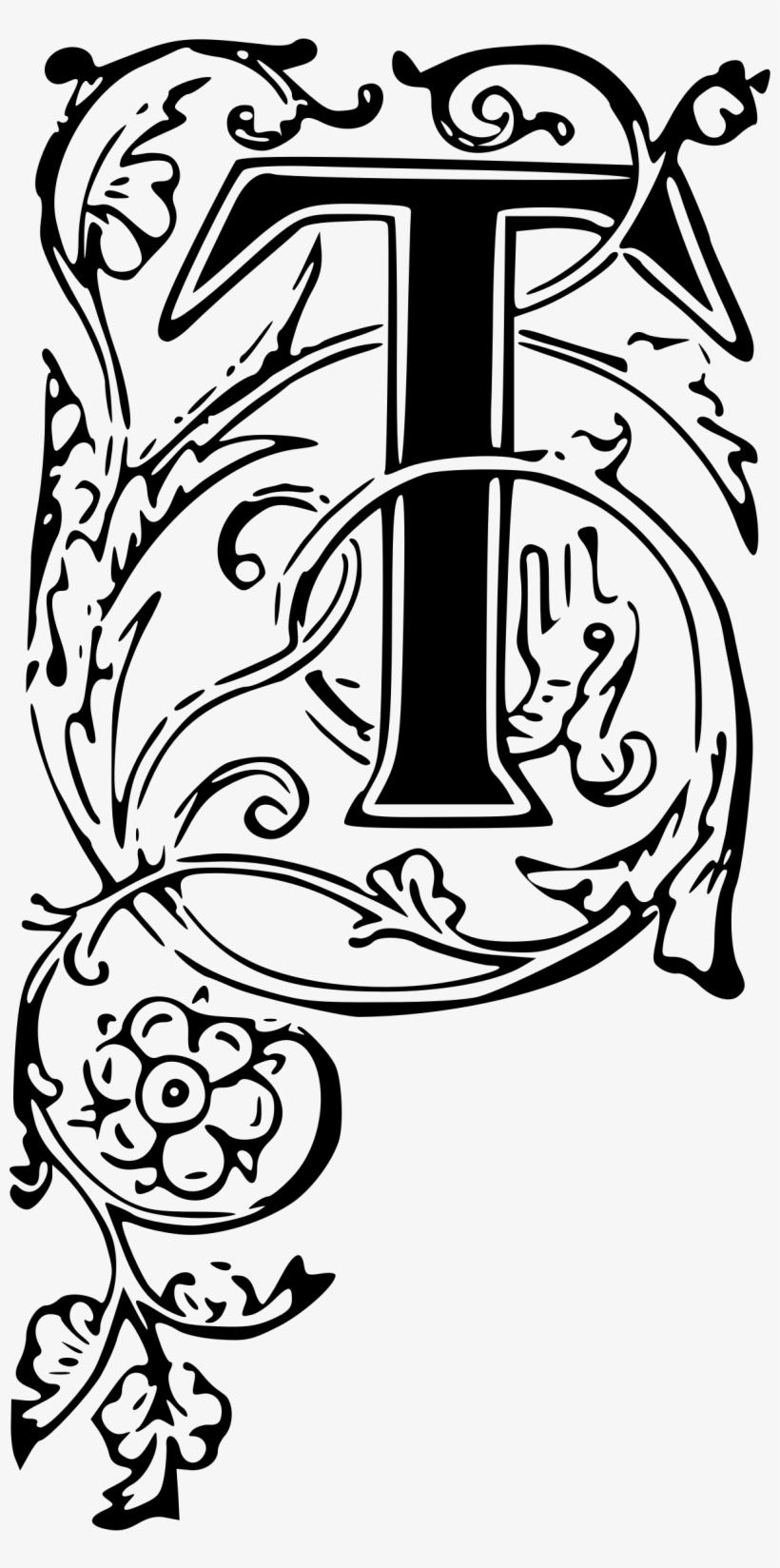 Letters In Fancy For Free Download On Mbtskoudsalg - Ornate Letter T