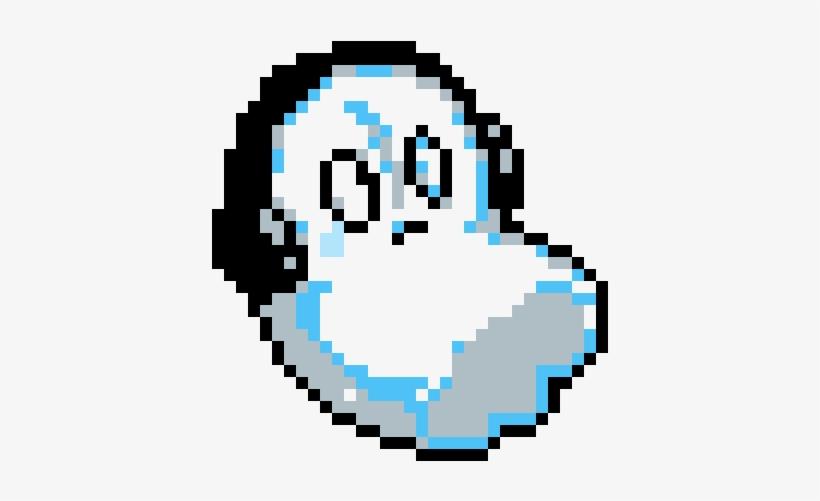 Napstablook From Undertale Minecraft Undertale Pixel Art 1200x1200 Png Download Pngkit