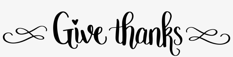 Free Clipart Thanksgiving Black And White Give Thanks Calligraphy