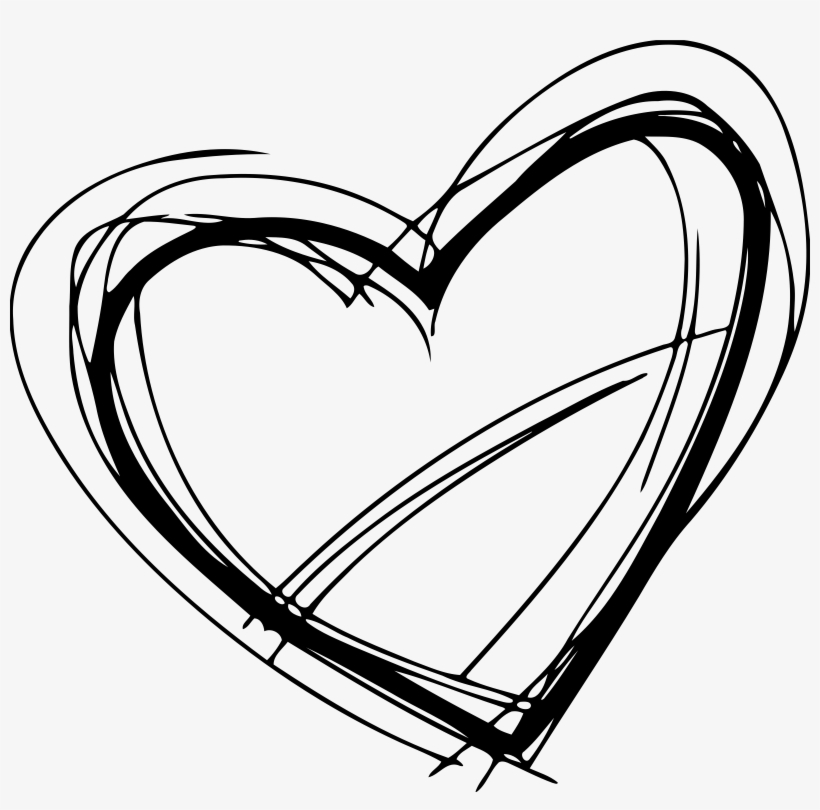 sketched heart clipart freeuse stock