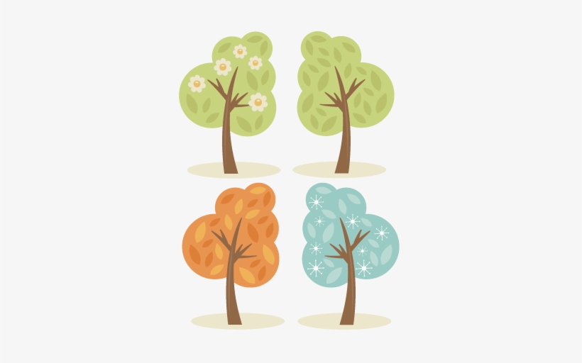 4 Season Trees Svg Cutting Files Spring Tree Svg Summer Winter Spring Summer Fall Png 432x432 Png Download Pngkit