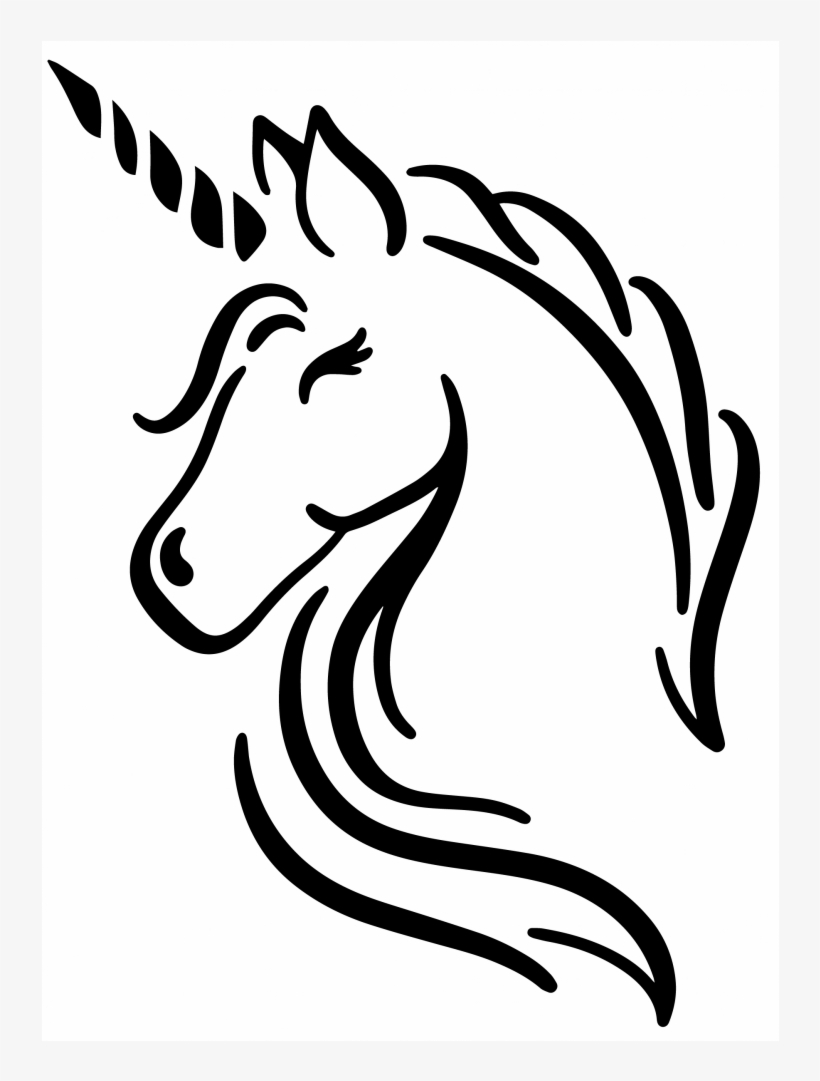 Unicorn Head Do You Believe In Magic 1000x1000 Png Download Pngkit