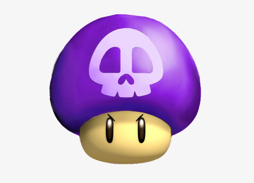 Purple Mario Mushroom Mario Bros Poison Mushroom 532x523