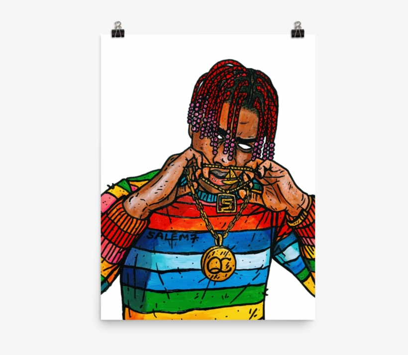 Lil Yachty Print Lil Yachty With Cartoon 720x720 Png Download