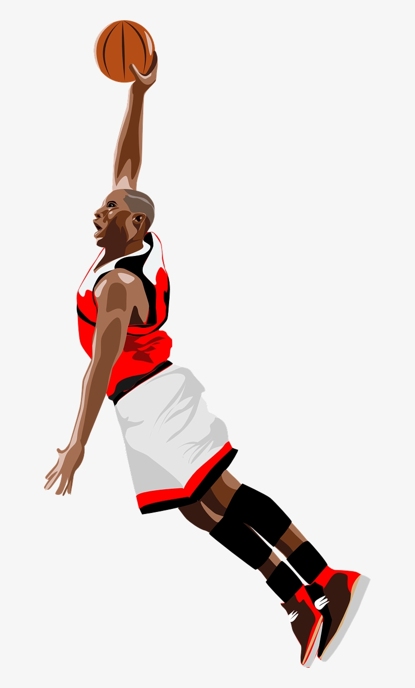 super popular 14d64 adee7 Basketball, Jump, Dunk, Slam, Player, Ball, Black - Nba Slam Dunk Png