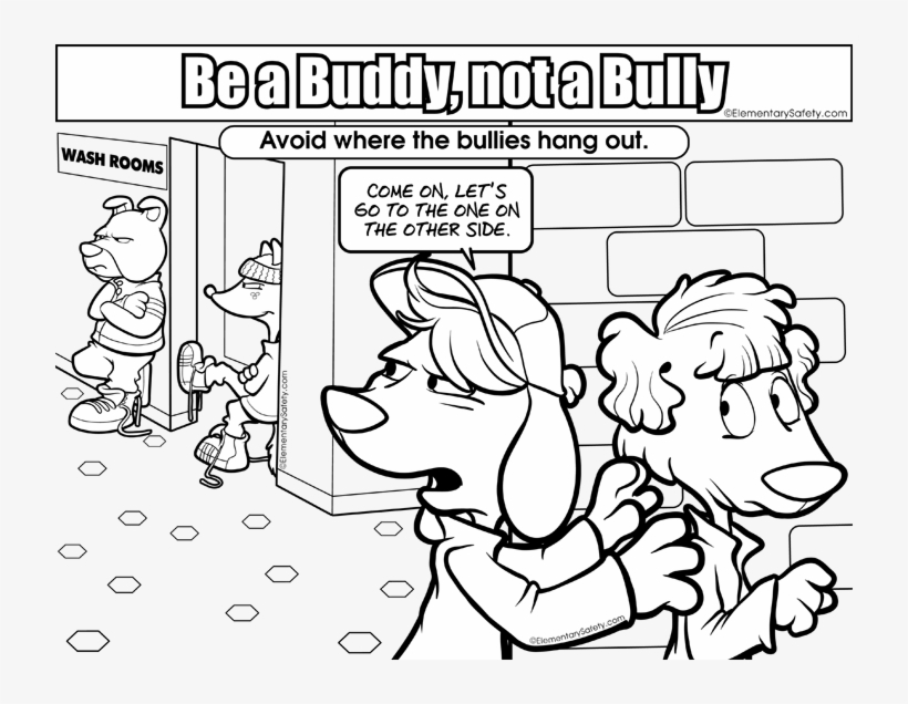 Bullying Coloring Pages Anti Bullying Coloring Pages - Anti ...