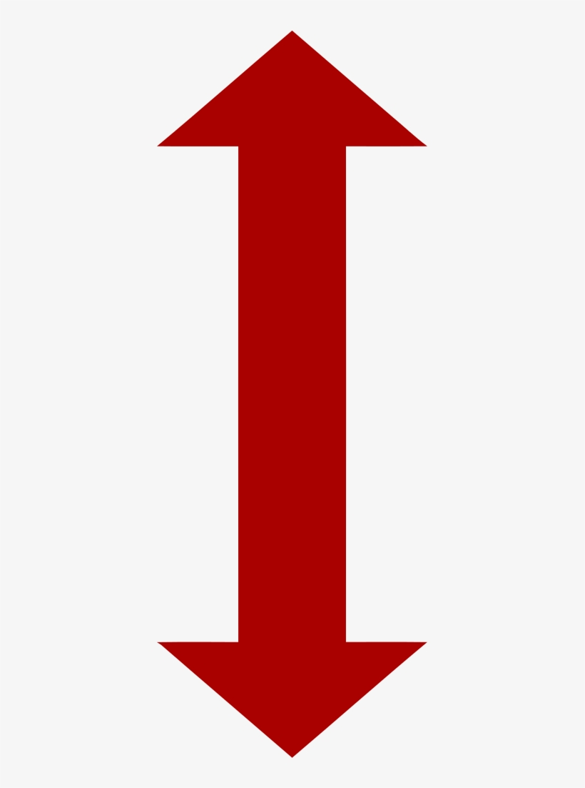Double Arrow Symbol Two Way Arrow Red 384x1023 Png Download Pngkit