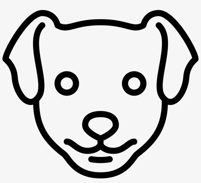 Dog Head - - Line Drawing Dog Head - 980x844 PNG Download