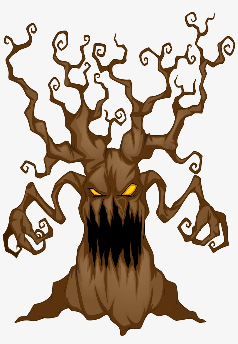 Halloween Tree Clipart At Getdrawings Scary Background Clip Art 5781x8000 Png Download Pngkit