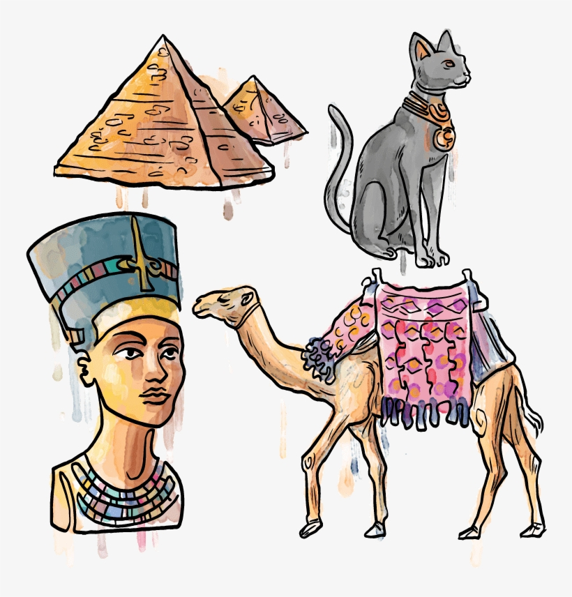 Pharaoh - Egyptian Camel Drawing - 748x776 PNG Download - PNGkit