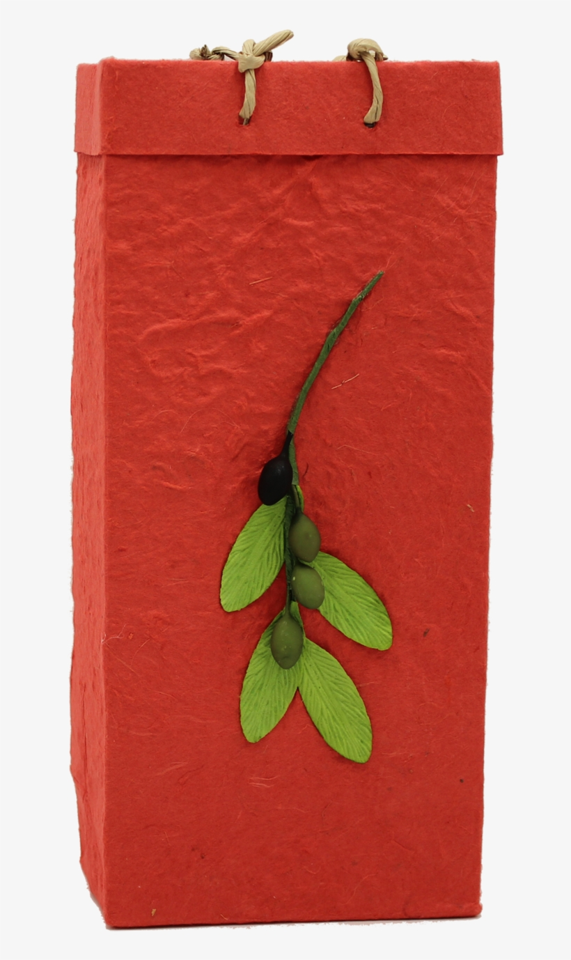 Gift Bag Handmade Paper Olive Branch Red Double Paper Bag
