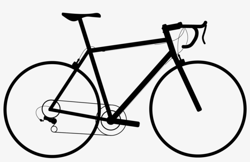 Clipart Black And White Drawing Bicycle Cyclist Cartoon Bike Transparent Background 1000x667 Png Download Pngkit